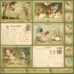 Двусторонняя бумага Woodland Fantasy