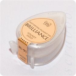Пигментные перламутровые чернила  Brilliance Dew Drop  цвет Golaxy Gold