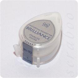 Пигментные перламутровые чернила  Brilliance Dew Drop  цвет Starlite Silver