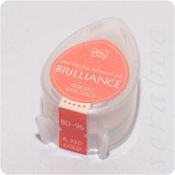 Пигментные перламутровые чернила  Brilliance Dew Drop  цвет Rocket Red Gold