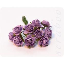 Розы фиолетовые, 10 мм,10шт