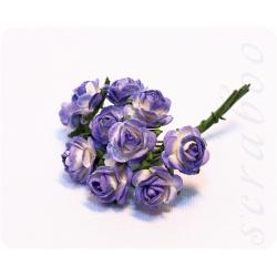 Букетик фиолетово-белых роз, 10мм