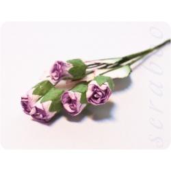 Большие бутоны светло-фиолетовых роз, 5 шт