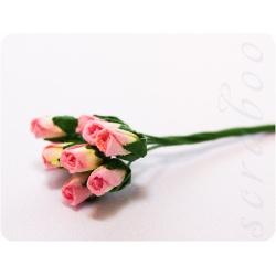 Бутоны желто-розовых роз, 10 шт