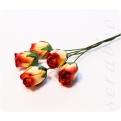 Бутоны желто-красных роз, 5 шт