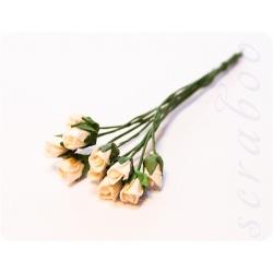 Бутоны белых роз, 10 шт