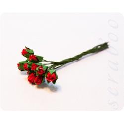 Бутоны красных роз, 10 шт