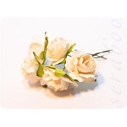 Белые розы, 25 мм