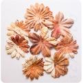 Цветы коричневый микс, 8 шт