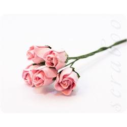 Бутоны светло-розовых роз, 5 шт