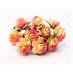 Розы желто-розовые, 10мм