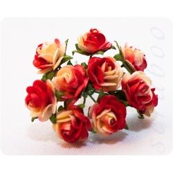 Желто-красные розы, 10мм