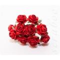 Красные розы, 10мм, 10шт
