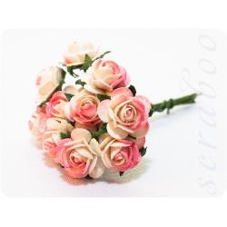 Розы бело-розовые, 10мм