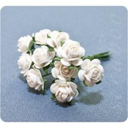 Букетик белых роз, 10мм, 10шт
