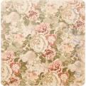 Двусторонняя бумага Pink & Green Floral