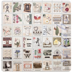 Двусторонняя бумага Stamp Collage
