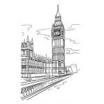 "Штамп Лондон ""Big Ben"""