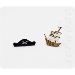 "Набор брадс ""Пираты"", 2 шт"