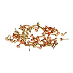 "Набор брадс ""Винтики"", 3мм, золото и медь, 50шт"