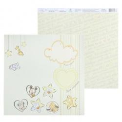 """Двусторонняя бумага """"Мои первый годик: Это Я"""", Микки Маус"""
