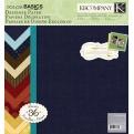 "Набор бумаги K&Company ""Color Basics Imbue"" 30х30 см, 18 листов"