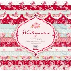 """Набор бумаги """"Winter garden"""", 30х30 см, 8 листов"""