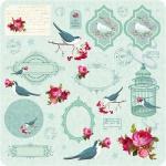 """Набор бумаги """"Winterbird"""", 30х30 см, 8 листов"""