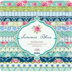 """Набор бумаги """"Summer Blues"""", 30х30 см, 8 листов"""