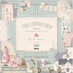 """Набор бумаги """"The Corner Shop"""", 30х30 см, 8 листов"""