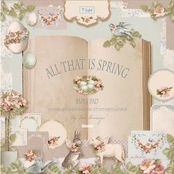 "Набор бумаги ""All that is Spring"", 30х30 см, 8 листов"