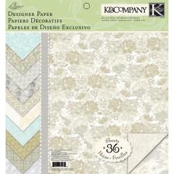 "Набор бумаги K&Company ""Elegance"" 30х30 см, 12 листов"