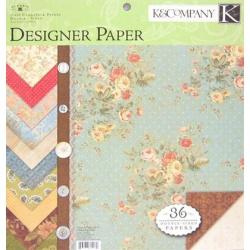 "Набор бумаги K&Company ""Classic K Bailey"" 30х30 см, 12 листов"