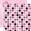 Двусторонняя бумага Script Polka Dot