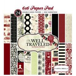 Набор бумаги Well Traveled, 15х15см, 24 листа