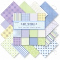 """Набор бумаги """"Back to Basics II"""", 15х15 см, 12 листов"""