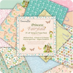 "Набор бумаги ""Princess Fairytale"", 20х20 см, 12 листов"