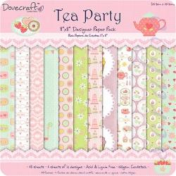 "Набор бумаги ""Tea Party"", 20х20 см, 12 листов"