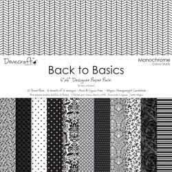 "Набор бумаги ""Back to Basics"", 15х15 см, 12 листов"