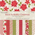 "Набор бумаги ""Back to Basics Christmas"", 15х15 см, 12 листов"