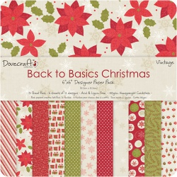 "Набор бумаги ""Back to Basics Christmas"", 15х15 см, 12 листов"