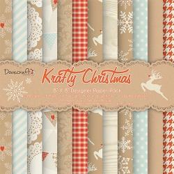 Набор бумаги 20*20 см 12 листов Krafty Christmas