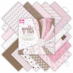 """Набор бумаги """"Sweet Owl"""", 15х15 см, 16 листов"""