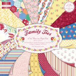 """Набор бумаги """"Family Ties"""", 30Х30см, 16 листов"""