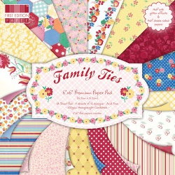 """Набор бумаги """"Family Ties"""", 15х15 см, 16 листов"""