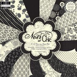 """Набор бумаги """"Noir et chic"""", 15х15 см, 16 листов"""
