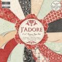 """Набор бумаги """"J'ADORE"""", 15х15 см, 16 листов"""