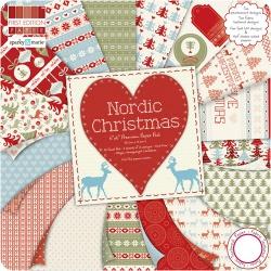 "Набор бумаги ""Nordic Christmas"", 15х15 см, 16 листов"