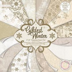 Набор бумаги 15*15 см 16 листов Gilded Winter