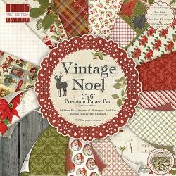 Набор бумаги 15*15 см 16 листов Vintage Noel